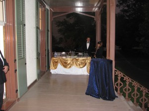 A full service bar was offered on the veranda of the cottage.