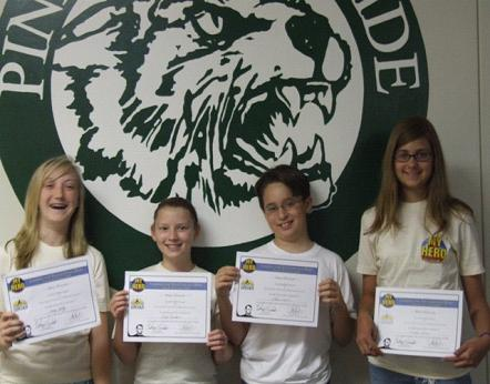 Finalists (Left to Right): Haley H., Emily A., Shane R., Caroline P.