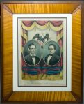 """The Grand National Banner"" shows Lincoln and Hamlin, the Republican Party presidential ticket in 1860."