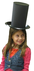 child wearing lincoln hat