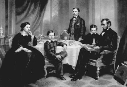 Thanksgiving dinner table family - A Lincoln Family Thanksgiving President Lincoln S